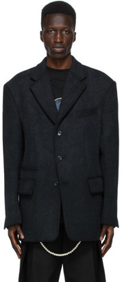we11done Black Wool Blazer