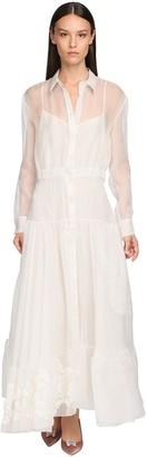 Rochas Long Light Organza Chemisier Dress