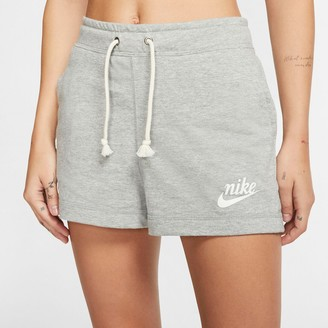 Nike Vintage Gym Wide Sport Logo Shorts in Cotton Mix