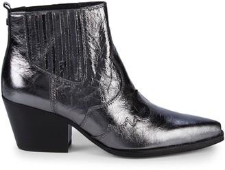 Sam Edelman Winona Distressed Metallic Leather Boots