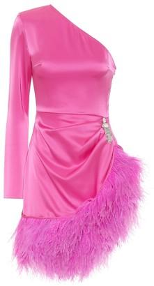 David Koma Embellished stretch-satin dress