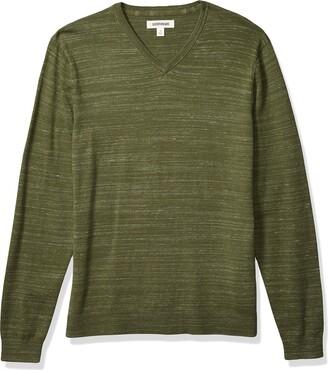 Goodthreads Amazon Brand Men's Soft Cotton V-Neck Summer Sweater