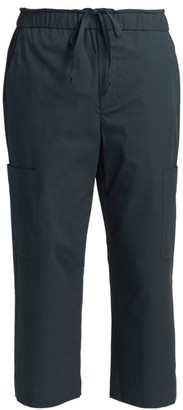 3.1 Phillip Lim Cropped Washed Poplin Cargo Pants