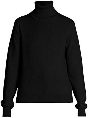 Maison Margiela Elbow Patch Wool Turtleneck Sweater