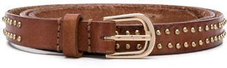 Mes Demoiselles Skinny Studded Leather Belt