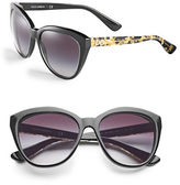 Dolce & Gabbana 56mm Flecked Cat-Eye Sunglasses