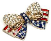Sweet Romance Patriotic USA American Flag Bow Pin