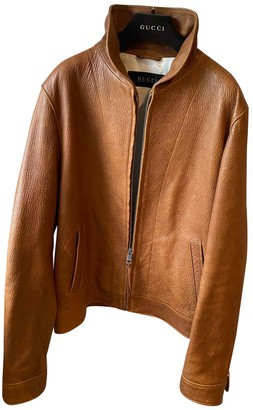 Gucci Camel Leather Jackets
