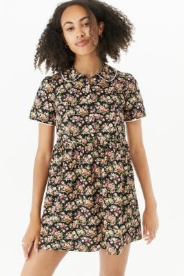 Urban Renewal Vintage Urban Outfitters Archive Mini Rose Lottie Dress - Black XS at Urban Outfitters