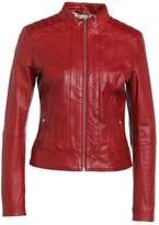 BOSS ORANGE JANABELLE Leather jacket medium red