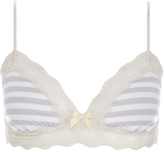 Eberjey Maritime Stripes Jersey and Lace Bralet