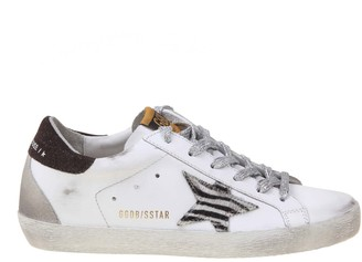 Golden Goose Superstar Sneaker In White Leather