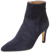 Ava & Aiden Leather Pointed-Toe Bootie