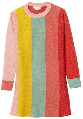 Stella McCartney Kids Long Sleeve Lurex Knit Striped Dress Early (Toddler/Little Kids/Big Kids) (Multi) Girl's Clothing