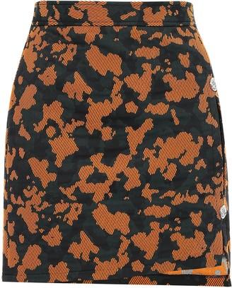 Versace Cutout Cotton-blend Jacquard Mini Skirt