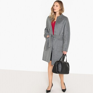 La Redoute Collections Belted Wool Blend Coat