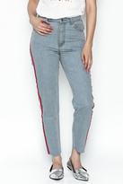 Honey Punch Stripe Aisha Denim Jeans