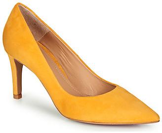 Perlato 10509-CAM-SAFFRON women's Heels in Yellow