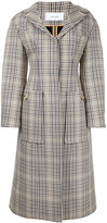 Irene - long checked coat - women - Cotton/Mohair/Wool - 36