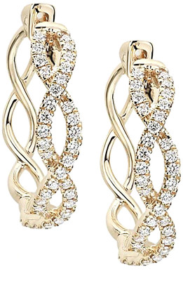 Diana M Fine Jewelry 14K 0.46 Ct. Tw. Diamond Earrings