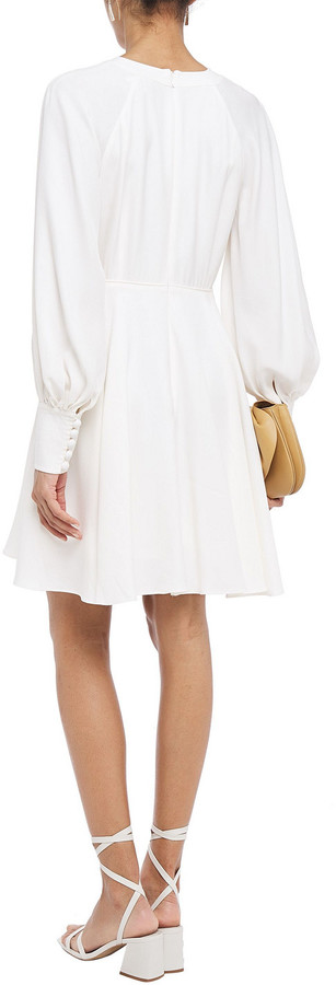 Thumbnail for your product : Zimmermann Gathered Crepe Mini Dress