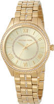 MICHAEL Michael Kors 38mm Crystal Encrusted Bracelet Watch, Golden