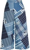 Miguelina Dana Patchwork-print Linen Wide-leg Pants - Royal blue