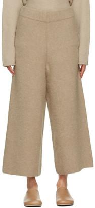 LAUREN MANOOGIAN Tan Alpaca and Wool Double Face Lounge Pants