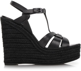 Saint Laurent Tribute Espadrille Wedges