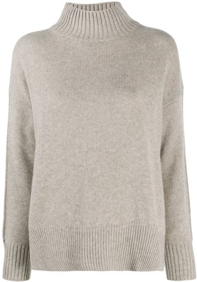 Allude Oversized Turtle Neck Cashmere Jumper