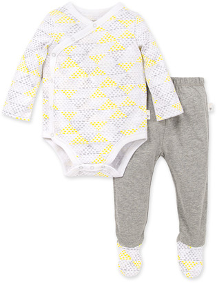 Burt's Bees Spotted Diamond Organic Baby Bodysuit & Footed Pant Set