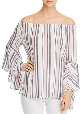 Single Thread Striped Off-the-Shoulder Top