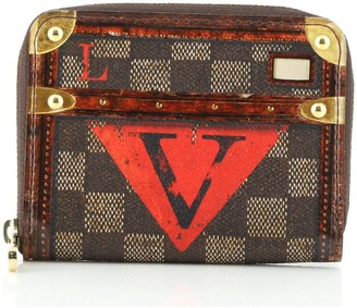 Louis Vuitton Zippy Wallet Limited Edition Damier Time Trunk Compact