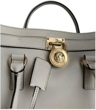 Michael Kors Hamilton White Leather Handbags