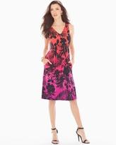 Soma Intimates Shirred Sleeveless Short Dress Palmscape Ombre