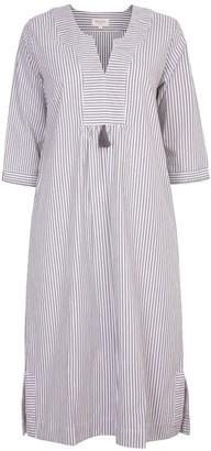 Nologo Chic At Ease Midi Dress - Cotton Stripe - Flint
