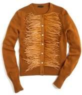 J.Crew J. CREW Faux Feather Wool Blend Cardigan