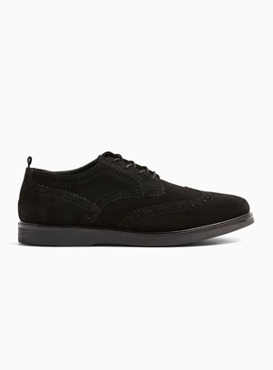 Hudson TopmanTopman Black Real Suede Calveston Brogues