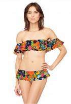 Milly Cabana Floral Print Sirolo Ruffle Bikini Bottom