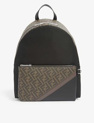 Fendi Logo-print leather backpack