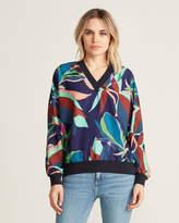 Ted Baker Floral V-Neck Pullover Tunic