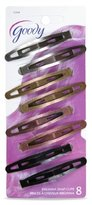 Goody Womens Classic Oval Metal Contour Clip 8x Item #12304 Assorted Colors