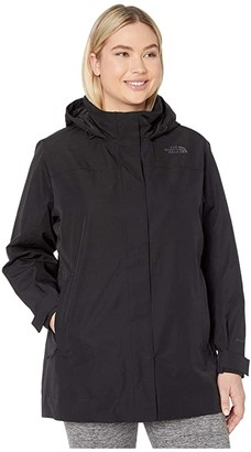 The North Face Plus Size Westoak City Trench (TNF Black) Women's Clothing