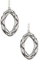 Simon Sebbag Sterling Silver Braided Oval Earrings