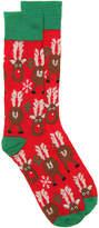 High Point Design Reindeer Reer Crew Socks - Men's