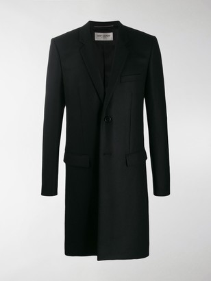 Saint Laurent Notched Collar Tailored Coat