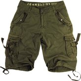 Stone Touch Mens Cargo Pocket Shorts Military-Style Color #A8s_bk Size: