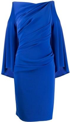 Talbot Runhof draped cut-out midi dress