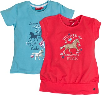 Salt&Pepper Salt and Pepper Girl's Multiset T-Shirt Horses 2