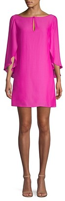 Milly Papillon Cascading Sleeve Silk Dress
